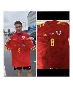 Signed PLAYERS Wales Football Shirt - Harry Wilson 8/9/21