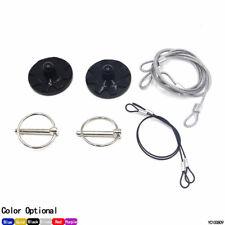 Universal CNC Billet Aluminum Racing Hood Pin Lock Appearance Kit Black New