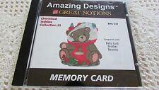 Brother Amazing Designs Cherished Teddies #3 Emb Card  EXCELLENT BMC-CT3