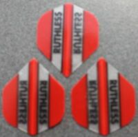 5 Packets of Brand New Ruthless Extra Strong Darts Flights - Red