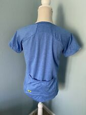 Women's Sugoi Cycling Jersey Top Medium Blue Back Pockets Short Sleeve Reflector