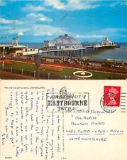 s07381 Pier & Carpet Gardens, Eastbourne, Sussex, England postcard posted 1970