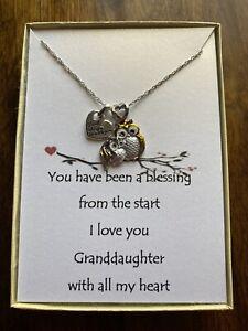 Owl Pendant Necklace Granddaughter Poem
