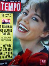 TEMPO n°12 1963 Giorgia Moll - Fortunino Matania - Salone Auto Ginevra [C91]