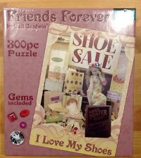 NEW Friends Forever 300 Piece Puzzle By Gail Goodwin. I Love My Shoes