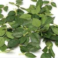 Green Artificial Silk Rose Leaf Leaves For Bouquet Garland Wedding Decor 30Pcs