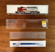 N Scale KATO 176-211 ATSF Santa Fe EMD F7 Diesel Locomotive #341 - Custom