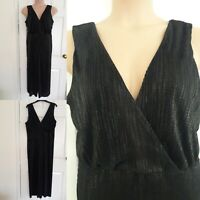 CULOTTES Black Jumpsuit Dress With Shimmer Size 16 Tall Evening Party BNWT