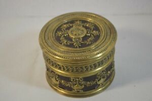 Antique Brass Box with Leather Wrap