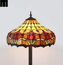 New Arrival Floor Lamp Tiffany Tulip Stained Glass Light Home Decoration