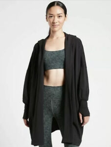 New! ATHLETA Mantra Wrap Light Black Size Large #600256
