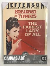 "BARGIN Audrey Hepburn Canvas Print Wall Art 13 x 18"" Breakfast At Tiffany's"