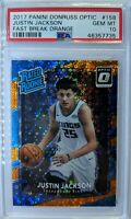 2017 Optic Rated Rookie Fast Break Orange Justin Jackson RC #158, PSA 10, Pop 1!
