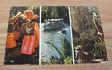 Vintage Walt Disney Adventureland Collectible Multi Scene Post Card **READ**