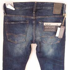 NEW Mens Replay M983 WAITOM Straight Blue Jeans W31 L34 BNWT