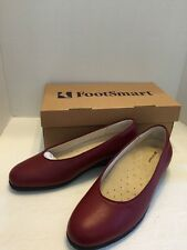 Foot Smart Berry Women's Pumps Wedge Heel Sz 10 New Leather