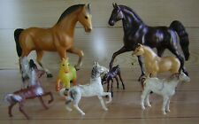 Vintage Lot of 9 Hartland Breyer? Bergen Beton Plastic toy Horses