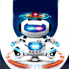 Cool Smart Space Walking Dance Robot 360° Rotate Electric Music Light Toy GiftUS