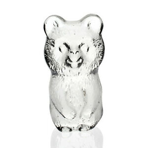Lindshammar - Vintage Cast Glass Flatback Koala Bear Figure - 1960s Swedish