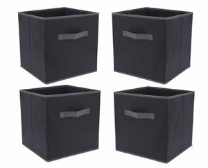 4x Aufbewahrungsbox anthrazit 30x30cm - Regal Würfel Box Falt Stoff Box Kiste