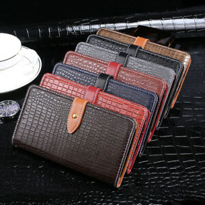 Flip Crocodile Premium Leather Case Cover TPU Silicone Skin Book Etui For Phones