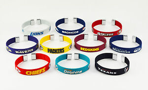 NFL Football Team Color Fan Band Ribbon Bracelet - Pick your team!