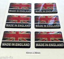 Made In England Printed Dome Sticker GB