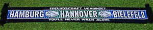 """Hamburg Hannover Bielefeld Schal """"FREUNDSCHAFT VERBINDET"""" Fan Kurve + NEU +"""