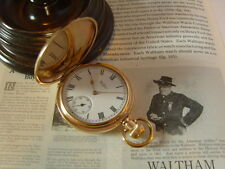GENTLEMAN'S WALTHAM 7J FULL HUNTER POCKET WATCH. 9CT ROSE GOLD/F CASE. C~1912.
