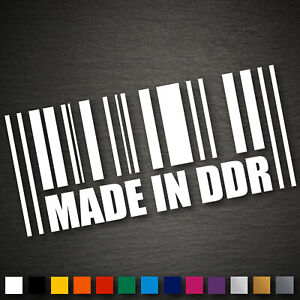 13204 Made in DDR Aufkleber 63x140mm Ossi Sticker Tuning Ost Osten
