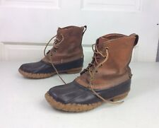 LL BEAN Vintage Duck Boots Leather Women's 7