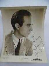 1944 Jan Savitt Signed Inscribed Mca Publicity Photo Swing Top Hatters Vintage