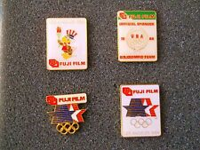 Vintage 1984 Summer Olympics Fuji Film U.S.O.C. U.S.Olympic Team Sponsor pin set