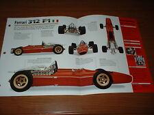 ★★1967 FERRARI 312 F1 ORIGINAL IMP BROCHURE SPECS INFO 67 FORMULA 1 RACING★★