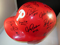 1993 Philadelphia Phillies Team Signed Autographed Batting Helmet +COA RARE!