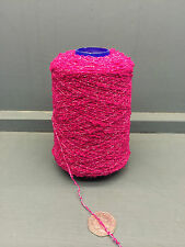 200G BRIGHT PINK COLOUR 5.5NM 81% CASHMERE SMALL BOUCLE YARN BEGONIA