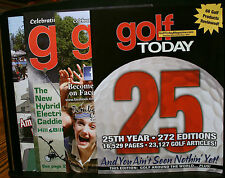 GOLF BOOK, 4 GOLF TODAY MAGAZINES, 25TH YEAR, SEPT/OCT 2011, JAN-JUNE 2011