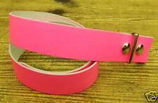 Small Rosa Cintura in Pelle per buckels Gotico Punk Rock