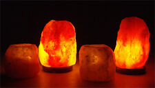 Himalayan Natural Pink Salt Rock Crystal set of TWO Lamps and TWO Candle Holders