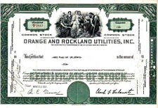 Orange and Rockland Utilities, Inc. NY 1961 Stock Certificate