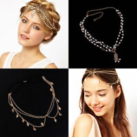 Women's Fashion Metal Rhinestone Head Chain Jewelry Girls Chain Bride HeadBand!!