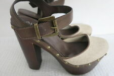 ALDO Shoes Size 39 High Heel Brown Oatmeal BUY 4 or more items for FREE POST