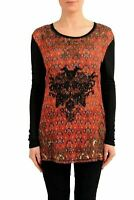 Just Cavalli Women's Patterned Long Sleeve Blouse Top US S IT 40