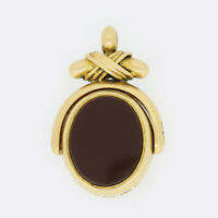 Victorian 18ct Yellow Gold Agate and Bloodstone Fob Pendant