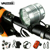 20000LM 5x XM-L T6 LED Bicycle Front Light Bike Cycling Headlight Rear Taillight