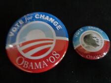 BARACK OBAMA VOTE FOR CHANGE CAMPAIGN PIN FR 2008
