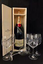Moet Chandon Brut 3 Liter Champagner Jeroboam Flasche 12% Vol. + 6 Moët Gläser