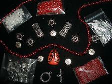 Bead jewelry lot loose spacer plastic glass metal lampwork seed bar flower k4R