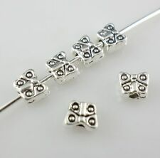 80pcs Tibetan Silver small Butterfly Spacer Beads for Jewelry Making 4x5mm