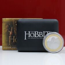 Rare! Lord of the Rings Pure Silver 999/1000 The Hobbit Coin 24K Gold Plated